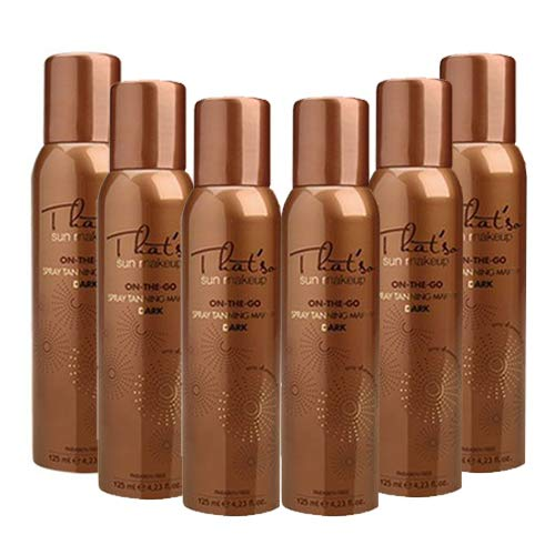 That'so, spray autoabbronzante per viso e décolleté, 125 ml, dark 6pz.