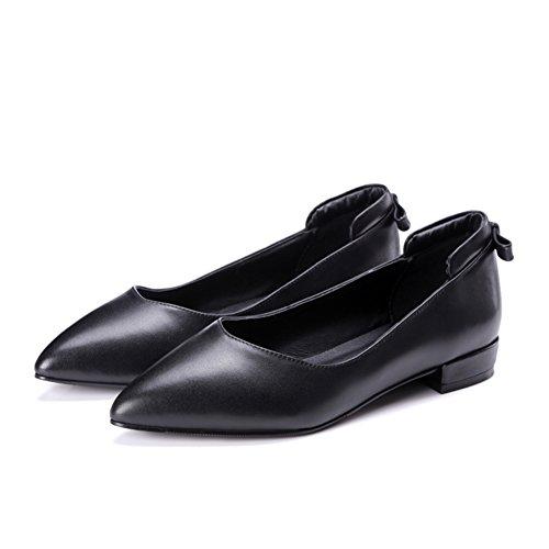 Lady Light brute avec des chaussures plates au printemps/ModecoréenneJokershoes/simplechaussurespointuesfemmes C