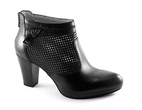 Nero Giardini 17010 Noir Chaussures Bottines Femme Bottines Trou Zip Perle Noir