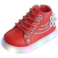c1b0adb30 Amazon.es  zapatillas luces - Rojo  Bebé