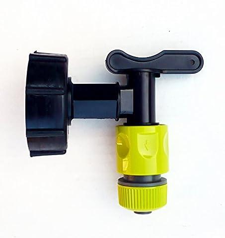 IBC adaptateur (S60X 6) pour citerne robinet C/W Intégré de Snap On + Raccord de tuyau
