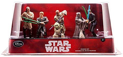 Juego de Figurilla Oficial de Disney Star Wars 6 Jedi