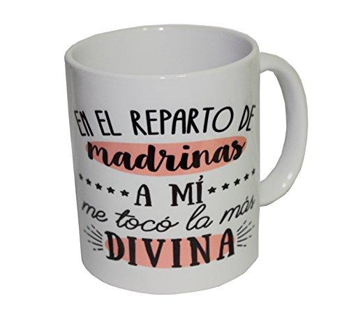 Taza de cerámica idea regalo para la mejor madrina y personalizada con la foto que quieras.