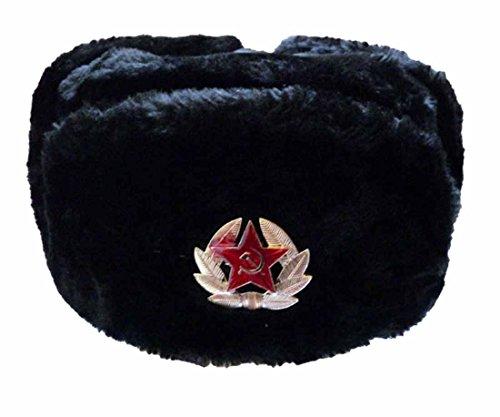 Russenmütze mit oder ohne Stern Schwarz 60