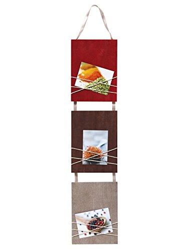 walther design Galerierahmen La Casa rot, für 3 Fotos 8x11 cm