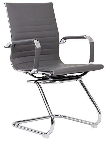 Bürostuhl CLASSIC grau Konferenzstuhl Besucherstuhl Wartestuhl elegant und bequem