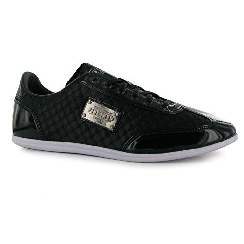 Firetrap DR Königreich Casual Trainer Herren BLK Fashion Turnschuhe Sneakers Schuhe, schwarz (Königreich Sports World)
