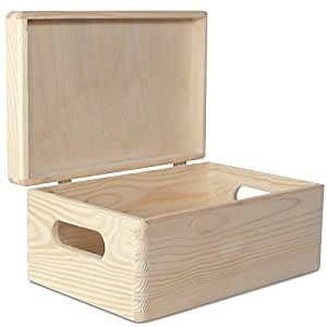 2 x Große Holzkiste Kiste Spielzeugkiste Erinnerungsbox