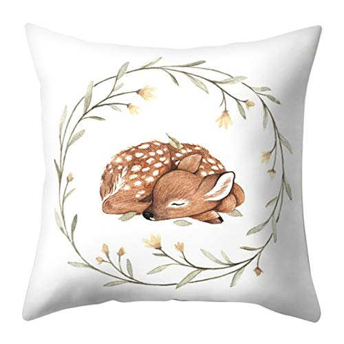 Bellelove Coton oreiller lombaire tissu taie d'oreiller linge taie d'oreiller de noël pas cher canapé voiture jet housse de coussin décor à la maiso