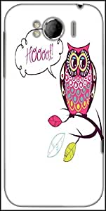 Snoogg Cute Vector Owl Hoooot Card Designer Protective Back Case Cover For HTC Sensation Xl