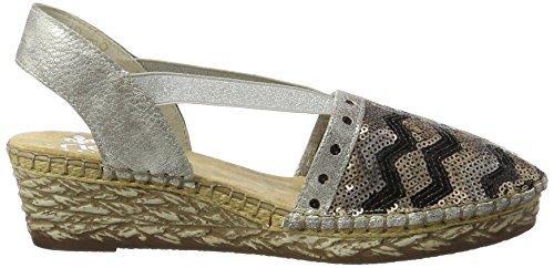 Rieker Damen 68978 Geschlossene Sandalen mit Keilabsatz - 6