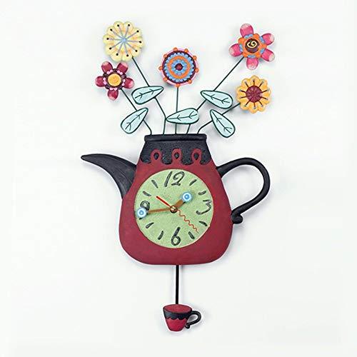 CAI Glocke-Wanduhr Metall Genaue Stumm die Koreanische Kunst Vase Harz Kreative Harz Dekorative...