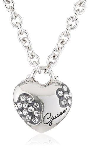 Guess Damen-Halskette Metall mit Herz UBN11219