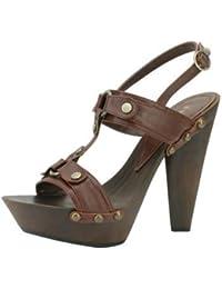 1TO3 - Sandale avec bride au talon et rivets