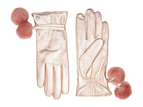 UGG Damen Pom Handschuh Leder - Gold - Mittel - Ugg Gelb
