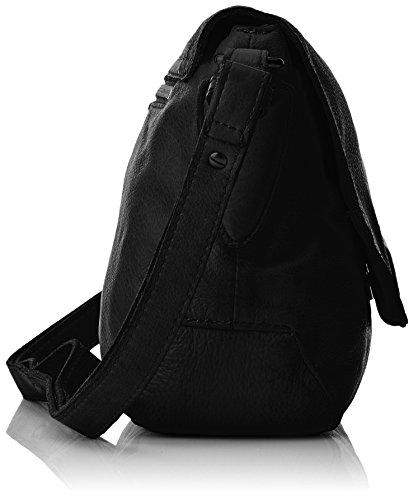 Liebeskind Berlin Yokote, Sacs bandoulière Noir - Schwarz (ninja black 9998)