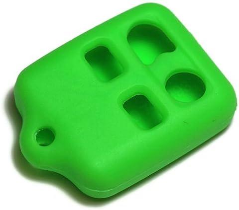 Porte-clés dantegts Vert Silicone Housse Etui SMART Télécommande Pochettes Protection