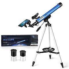 Idea Regalo - TELMU Telescopio Astronomico - 30 Volte e 48 Volte, Con Red Dot Observer, Rotazione a 360 Gradi, Telescopio Astronomico Bambini, Come Regalo di Compleanno e Natale (con Adattatore per Smartphone)