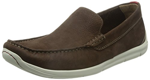 Clarks Karlock Lane Slip On con Imbottitura Leggera Uomo , Marrone (Braun (Dark Brown Nub)), 45