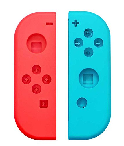 Price comparison product image New Face Plate FULL Housing Shell for Nintendo Switch NS Controllers Joy-Cons (Blue&Red)…