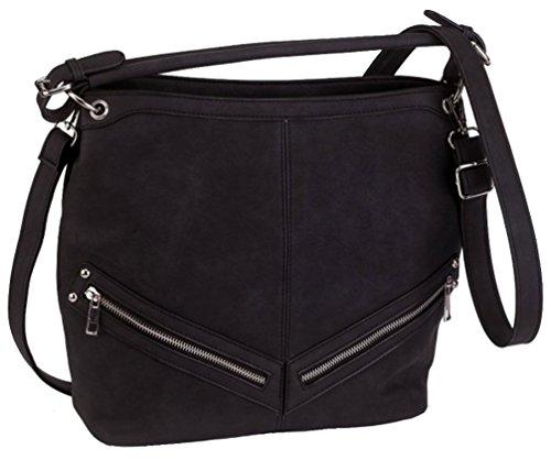 Alessandro® Damentasche ANCORA 5791 Handbag Damen Handtasche 4 Farben Anthrazit