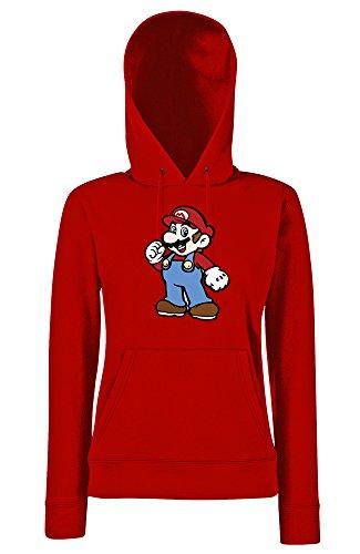 TRVPPY - Sweat Pull à capuche, modèle SUPER MARIO - Femme, différentes tailles et couleurs Rouge