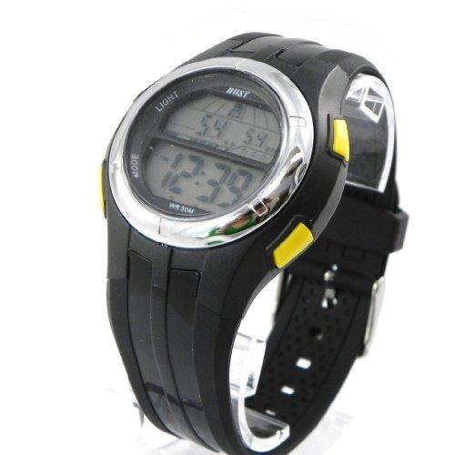 Wrist-watch-sport-Busy-yellow-black