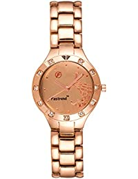 Fastrend Quartz Ladies Watch - Stainless Steel Analog Watch For Women - Round And Rose Gold Wrist Watch