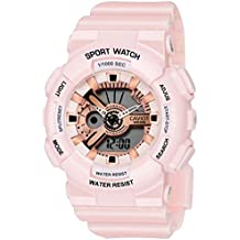 Caviot Sports Multi-Functional Analog-Digital Multicolour Dial Women's Watch - CWADG3703