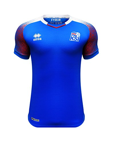 Errea Men's Iceland Home World Cup 2018 Russia Football Shirt
