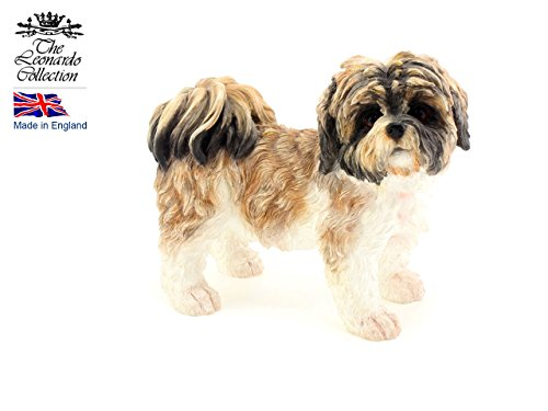 Leonardo Collection Shih Tzu Ornament Hund, Stein, Tan -