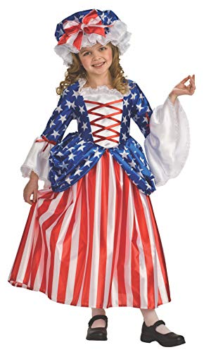 Betsy Ross Deluxe Patriotic Child Costume Large 12-14