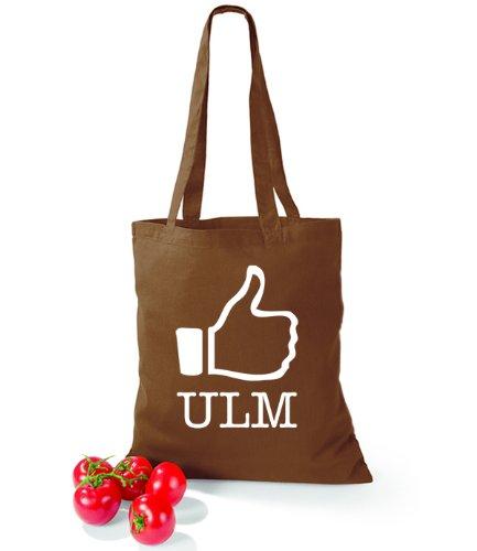 Artdiktat Baumwolltasche I like Ulm Chestnut