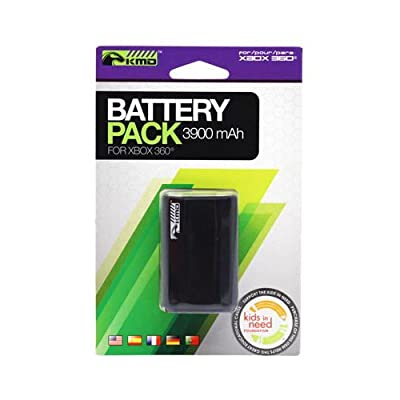 KMD 3900mAh Rechargeable Battery Pack for Microsoft Xbox 360 Black by KMD