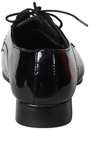 Schwarze Junge Black Hochzeit Farbe Hell Derby Boot Mittlere Ferse Glossy qqpYt
