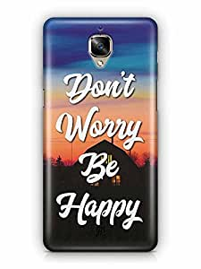 YuBingo Don't Worry. Be Happy Designer Mobile Case Back Cover for OnePlus 3