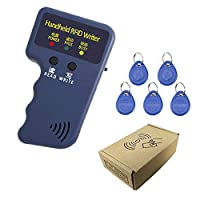 125 KHz ID/HID Card Copier/Reader/Writer Duplicator Programmer with 5pcs 125khz ID keychains