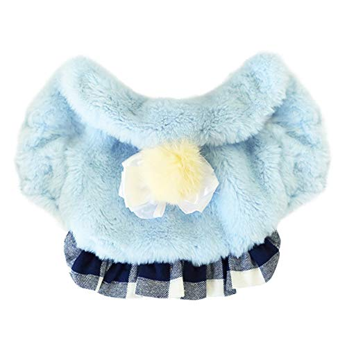 PanDaDa Dog Winter Warm Coat Hunde kostüm, Verdickung Fluffy Tops und Plaids (Hunde Fluffy Kostüm)