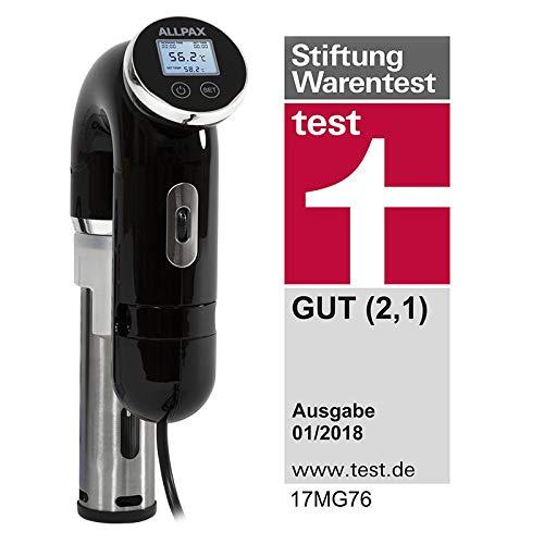 """TESTSIEGER\""""Stiftung Warentest\"""" Sous Vide Stick ALLPAX SVU - 1200 Watt Leistung - Optimiertes 2019er Modell"""