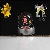 Night Light, Pokemon, Pikachu, Raikou, K9 Crystal Ball, Night Lamp for Baby