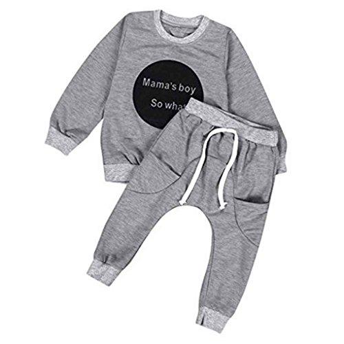 Masterein 0-4 Jahre alt Kleinkind Kinder Baby Boys Outfit Kleidung Langarm T-Shirt Tops + Hosen Bekleidung Sets (Kleinkind Boys Outfits)