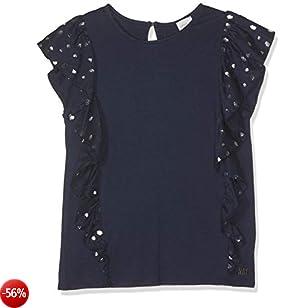 Carrément Beau Tee-Shirt T, Blu (Indigo Blue Beige 85t), 10 Anni (Taglia Produttore: 10A) Bambina