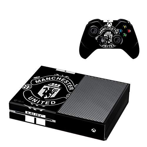 Xbox One Konsole + 2 Controller Design Manchester United Schutzfolie Skin Faceplates Schutz Folie ( Herstellung in Deutschland ) - One Xbox Controller-manchester