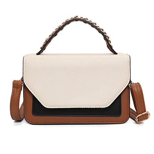 FZHLY New Hit Farbe Kleine Quadratische Tasche Damenmode Umhängetasche Khaki
