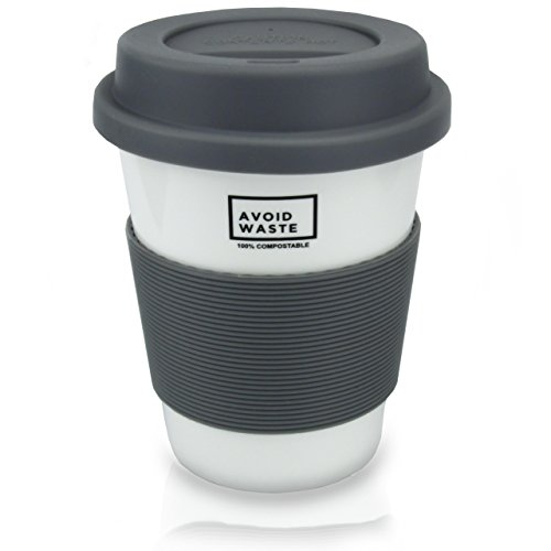 avoid waste - ECO Kaffeebecher to go, kompostierbar. Becher to go aus pflanzlichem Material (PLA). BPA frei und umweltfreundlich. - 2