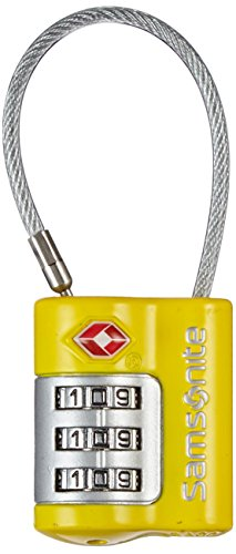 Samsonite Travel Accessories Us Air Tr3dial Cable Lock Lucchetto per Valigie, Giallo, 7 cm