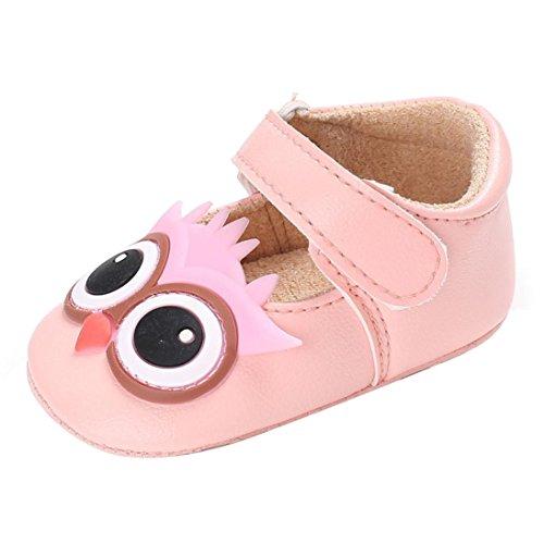 der Mädchen Weiche Sohle Krippe Kleinkind Neugeborenen Schuhe 0-18M (6~12 M, Rosa) (Teenager Mädchen Kostüme Uk)