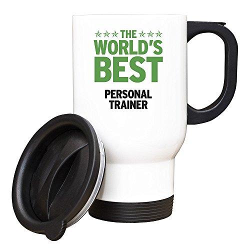 GREEN Worlds Best Personal Trainer-Tazza da viaggio, 276, colore: bianco