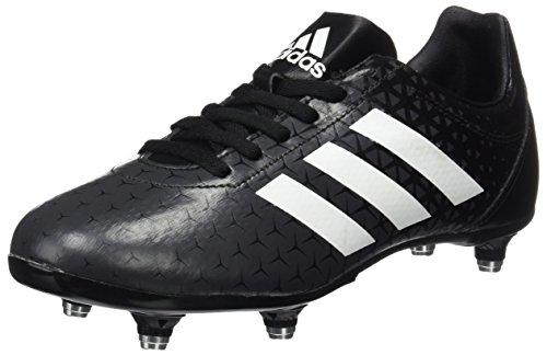 Adidas Unisex-Kinder All Blacks J Sg Rugbyschuhe, Schwarz (Negbas/Ftwbla/Neguti), 36 EU (Rugby-boot-schuhe)