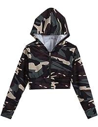 Amazon.es  ropa camuflaje mujer - L   Sudaderas con capucha ... 3e32a3411dba